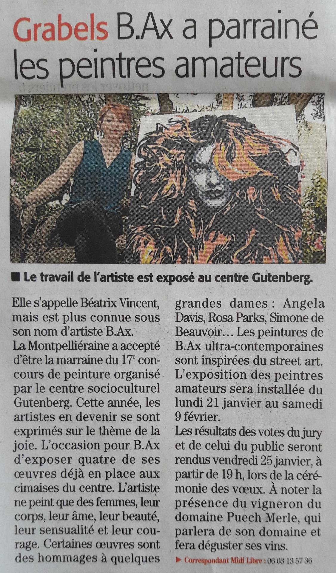 Midi libre article du 10 janvier 2019